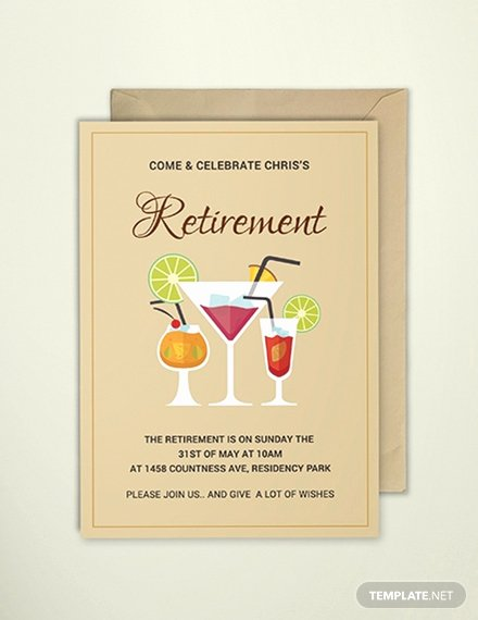 Retirement Party Invites Template Inspirational Free Surprise Retirement Party Invitation Template