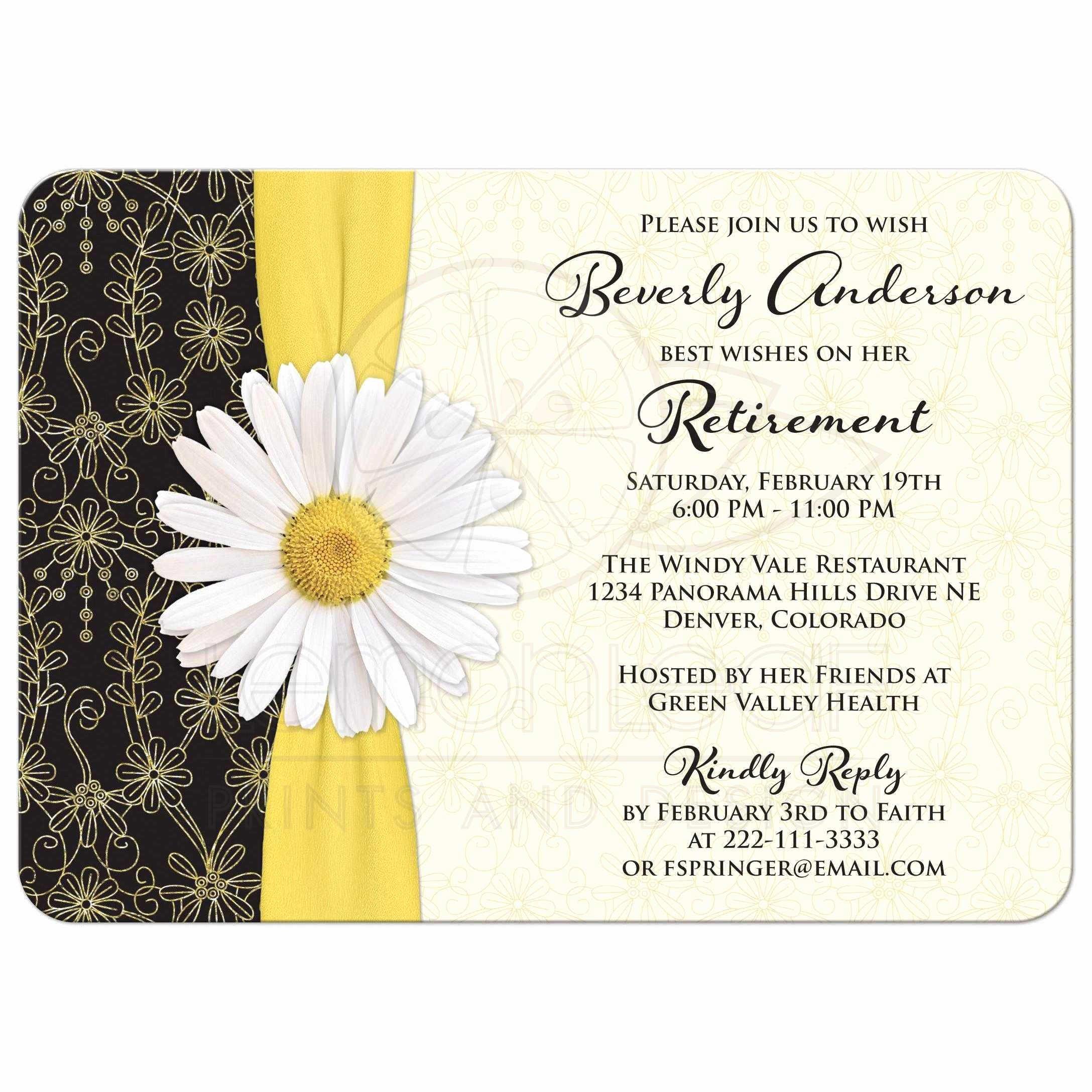 Retirement Party Invites Template Inspirational Retirement Party Invitation Wording