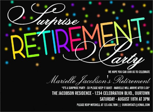 Retirement Party Invites Template Lovely 36 Sample Invitation Template Download