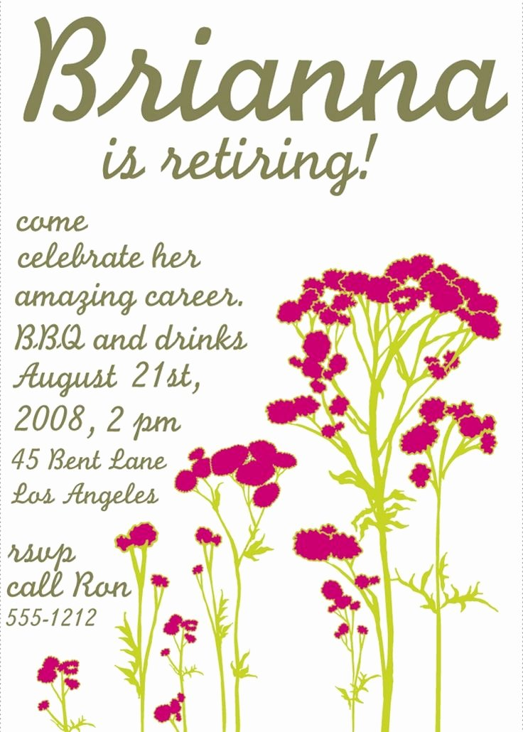 Retirement Party Invites Template New Free Printable Retirement Party Invitations Templates