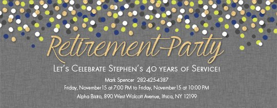 Retirement Party Invites Template New Free Retirement and Farewell Party Invitations