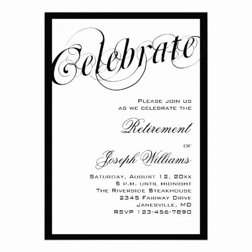 Retirement Party Program Template Awesome 15 Best Retirement Party Invitation Templates Images On