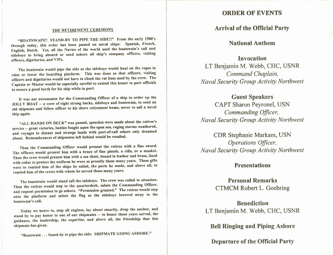 Retirement Party Program Template Awesome Army Retirement Ceremony Program Samples Templates