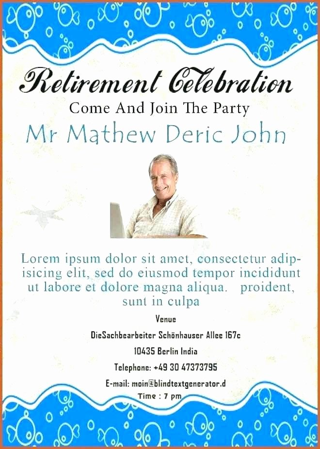 Retirement Party Program Template Best Of Retirement Flyer Template Publisher Retirement Party