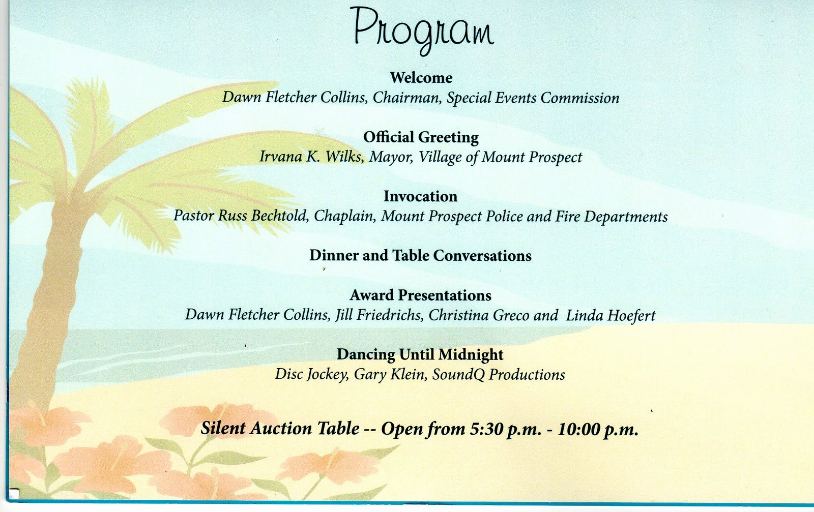 Retirement Party Program Template Luxury Reflections On My Journey the Village Of Mount Prospect