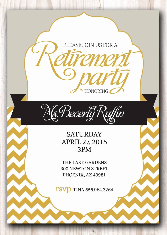 Retirement Party Program Template Unique Retirement Party Invitation Template