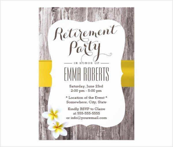 Retirement Party Template Free Beautiful 36 Retirement Party Invitation Templates Psd Ai Word