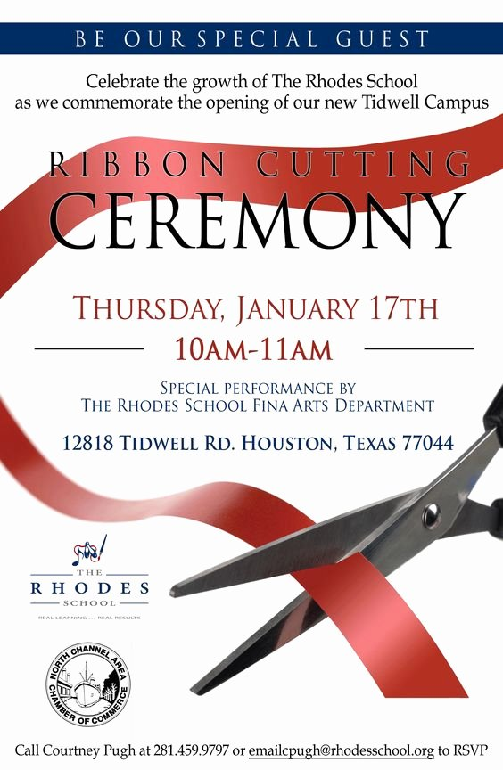 Ribbon Cutting Invite Template Beautiful Free Ribbon Cutting Invitations