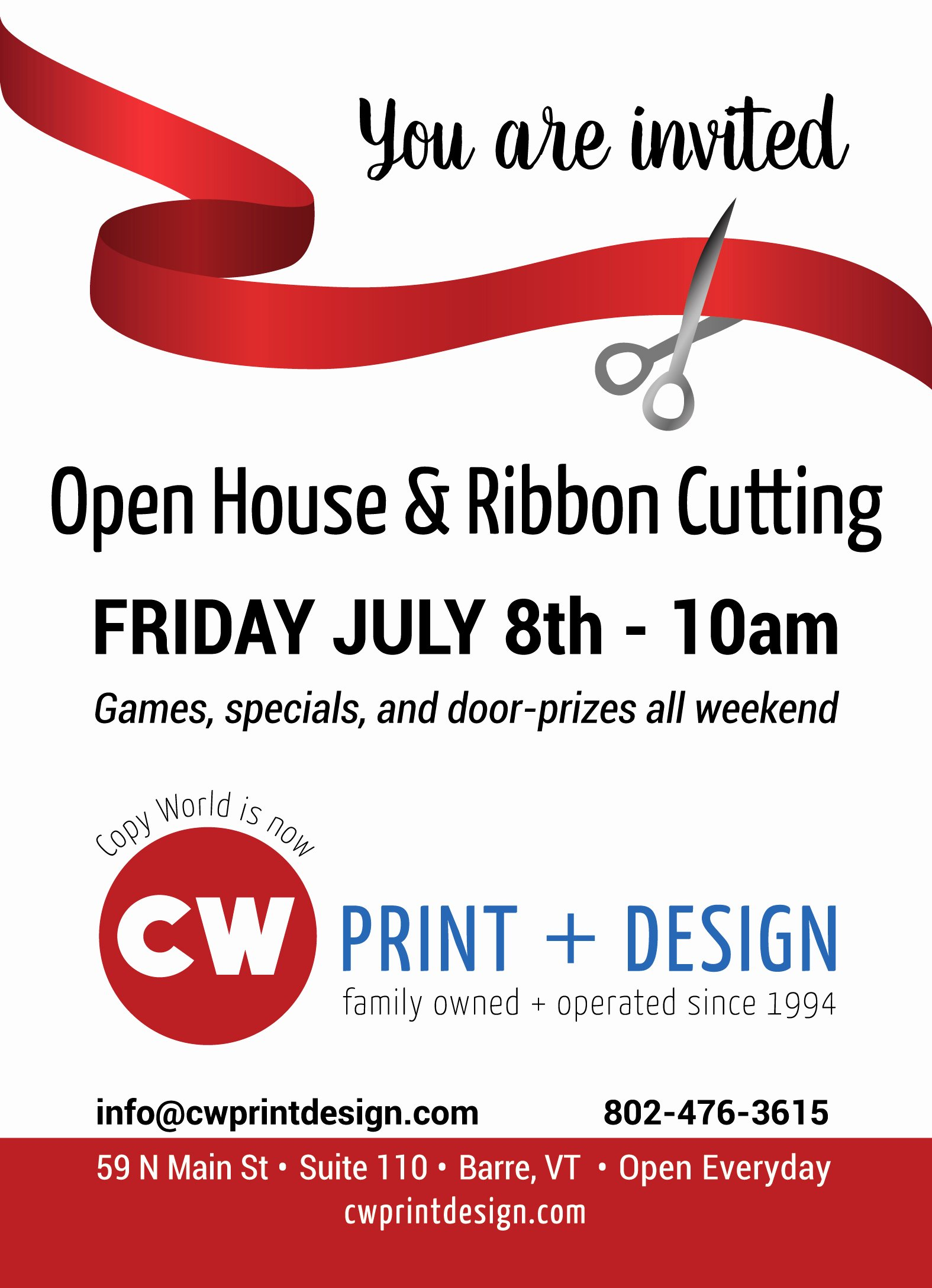 Ribbon Cutting Invite Template Beautiful Ribbon Cutting Friday July 8th 10am Copy World is now