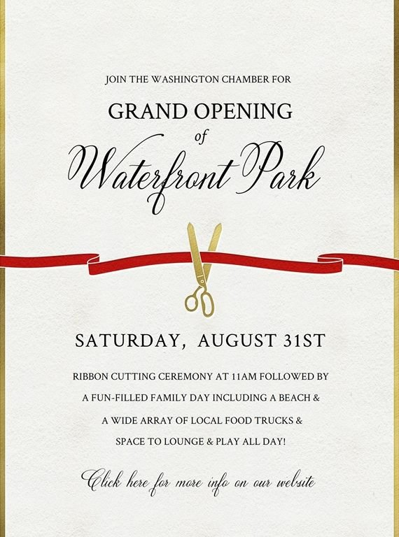 Ribbon Cutting Invite Template Lovely Ribbon Cutting Invitation Cobypic