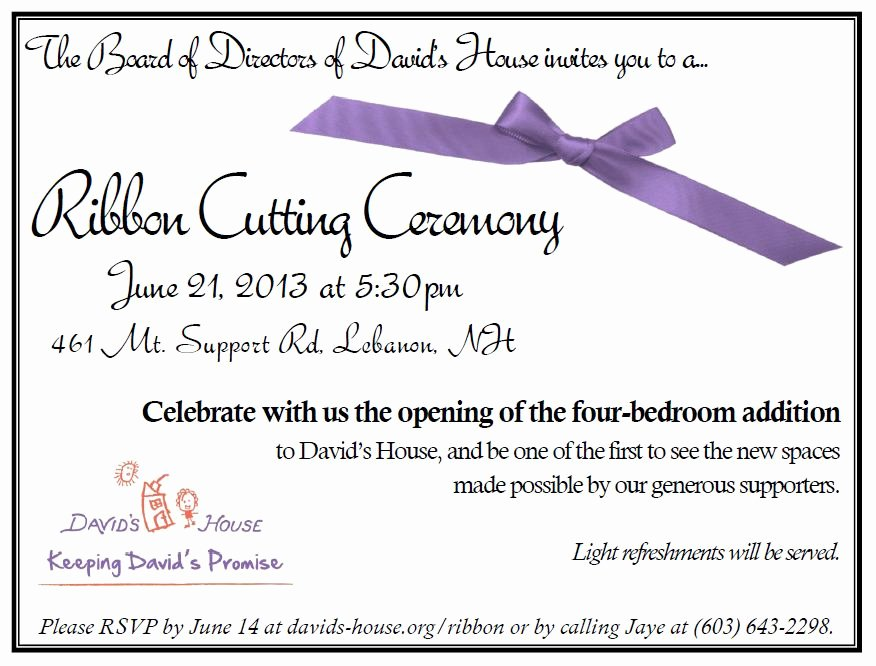 Ribbon Cutting Invite Template Luxury 10 Best Of Ribbon Cutting Invitation Wording