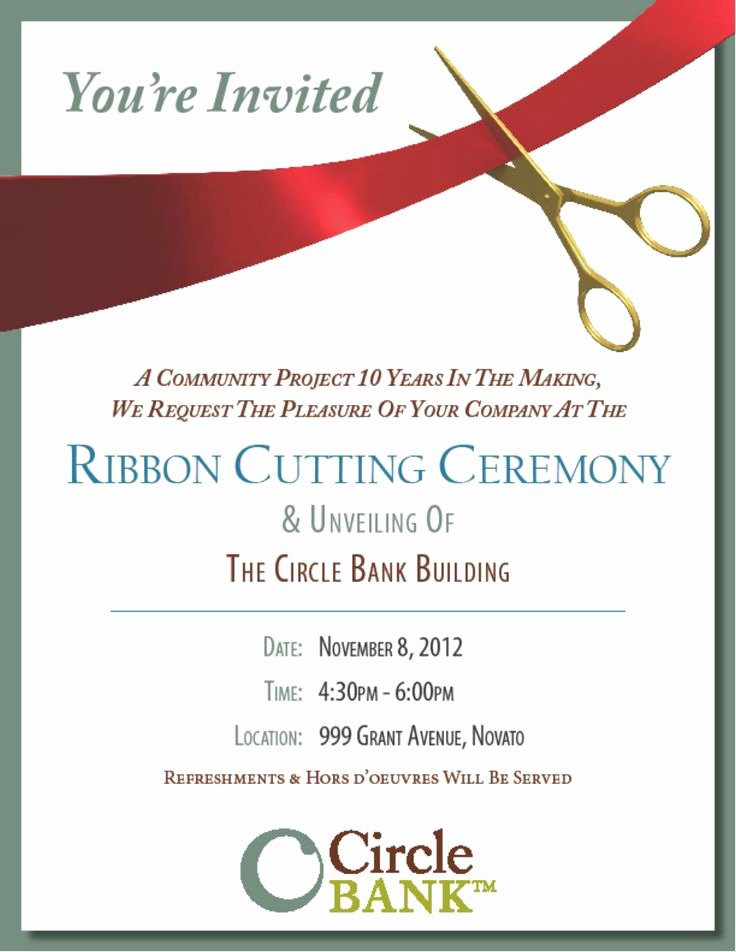 Ribbon Cutting Invite Template Luxury Sample Ribbon Cutting Invitations