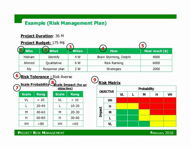 Risk Management Plan Template Inspirational Pmp Project Risk Management