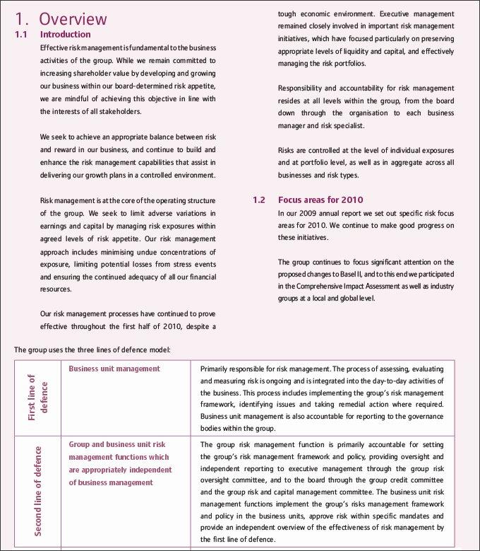 Risk Management Report Template Beautiful Risk Management Report Template Templates Data