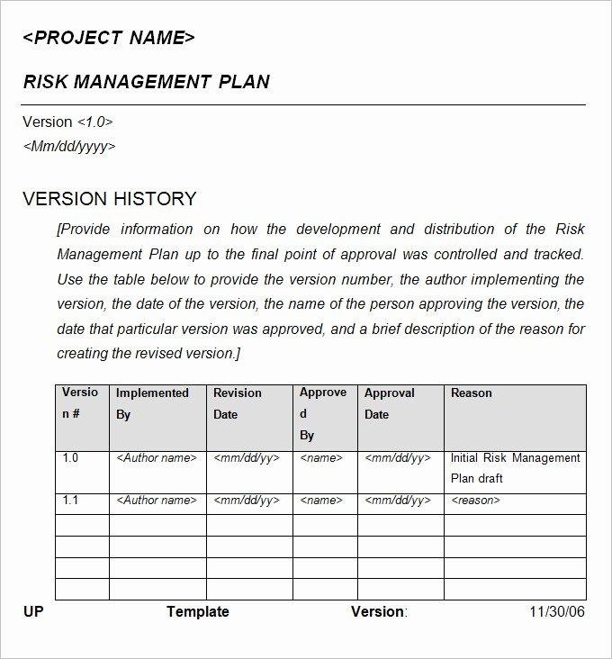 Risk Management Report Template Fresh 10 Crisis Management Plan Examples Pdf