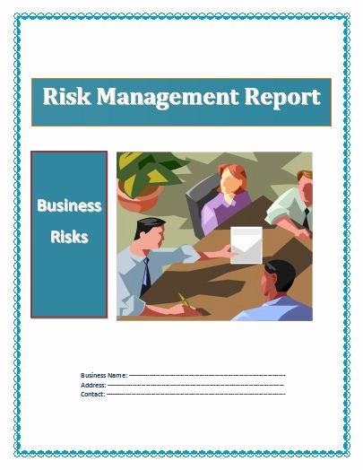 Risk Management Report Template Luxury Business Reports
