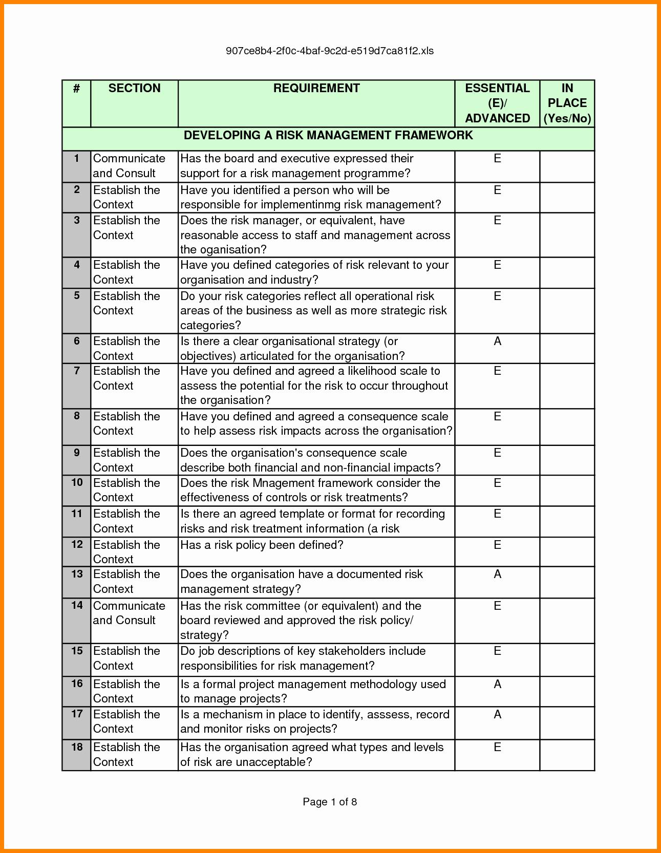 Risk Management Report Template New 5 Key Risk Indicators Template