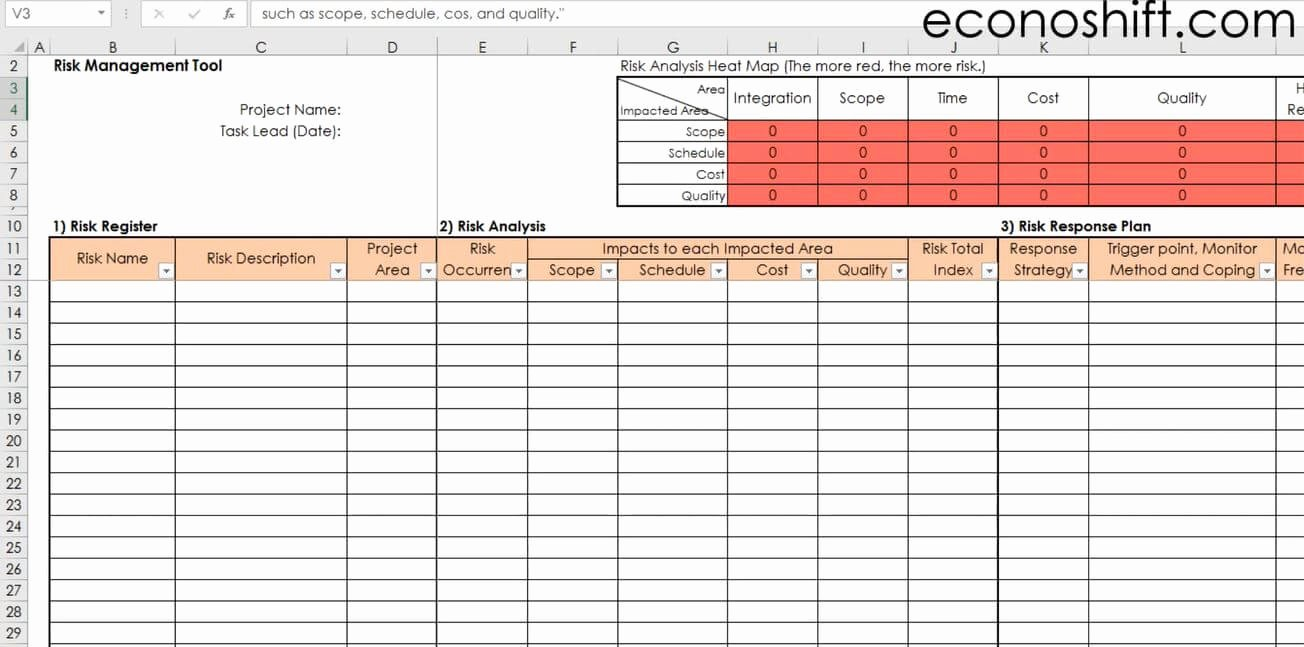 Risk Management Template Excel Beautiful Excel Template Download Instructed Lss and Pm Templates