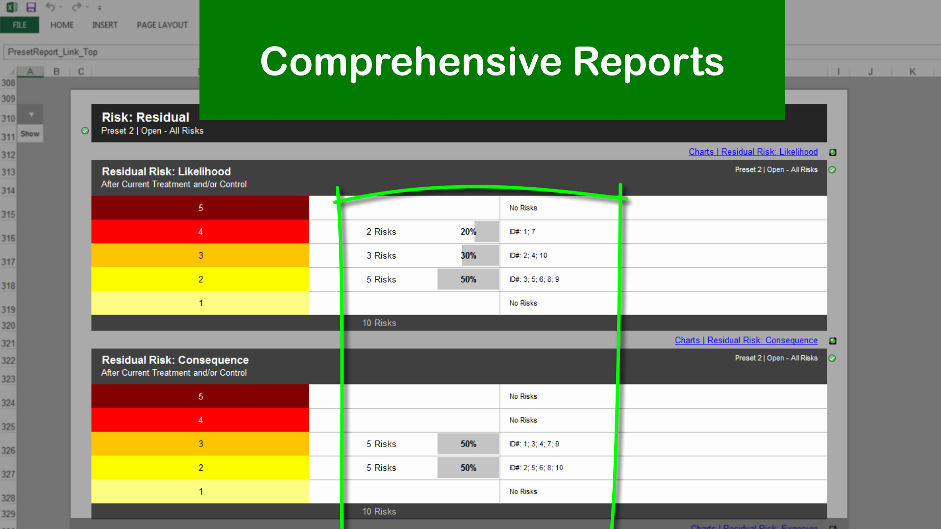 Risk Management Template Excel Luxury Risk Template In Excel Features Walkthrough