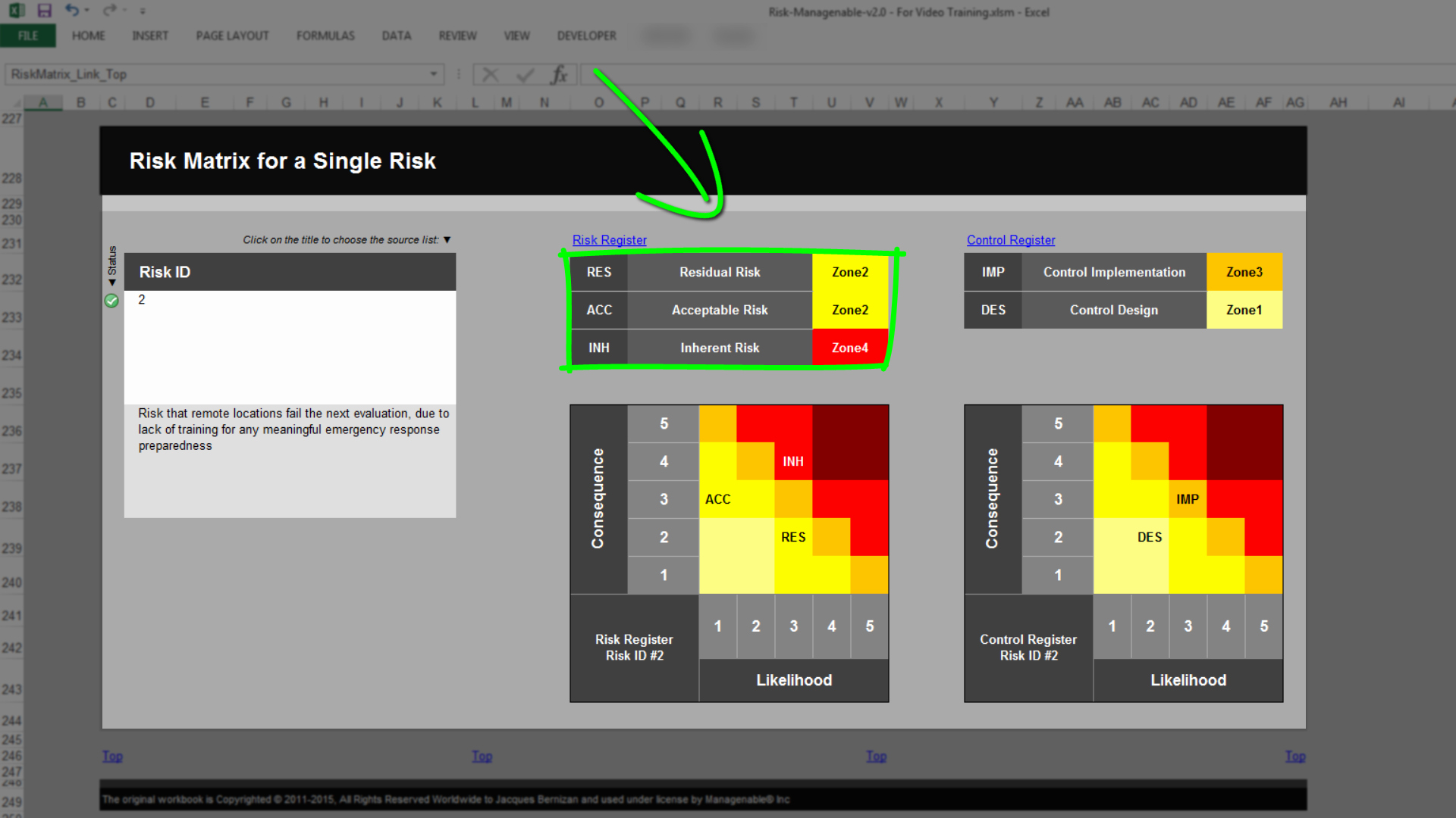 Risk Matrix Template Excel Best Of Risk Template In Excel Training • Overview Risk Matrix Tab