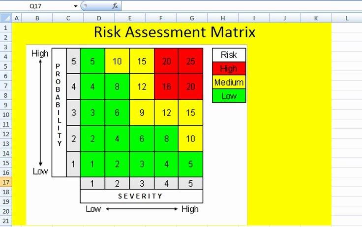 Risk Matrix Template Excel Fresh the 25 Best Risk Matrix Ideas On Pinterest
