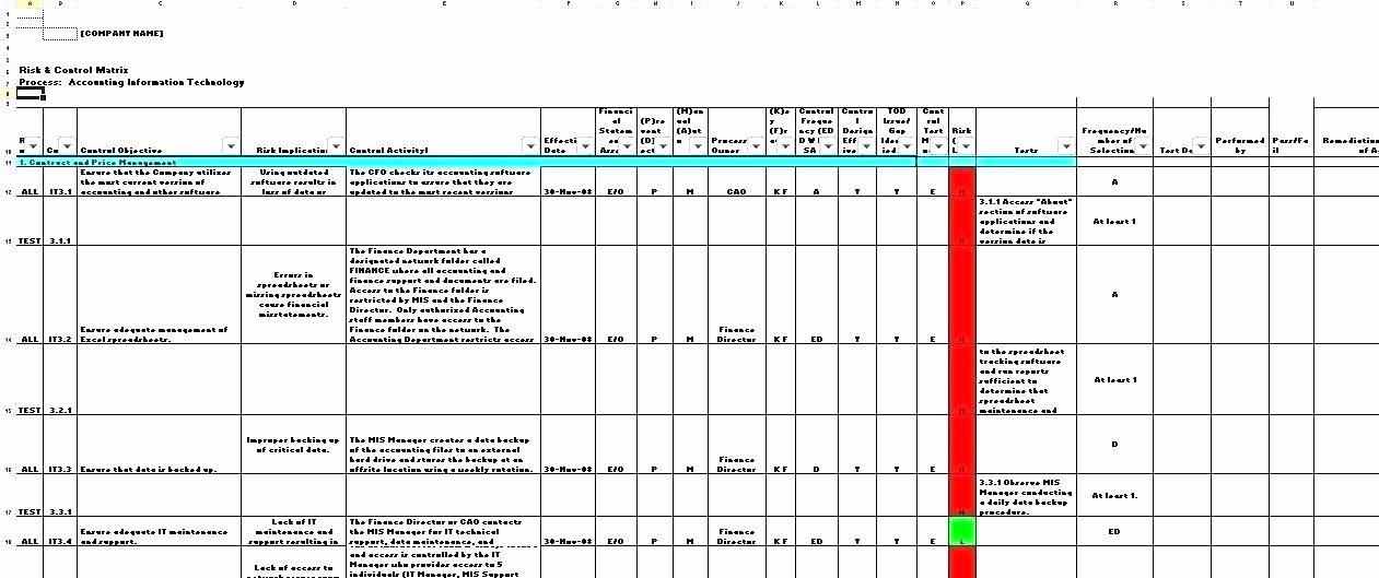 Risk Matrix Template Excel Inspirational Network assessment Template Templates Free Risk Download