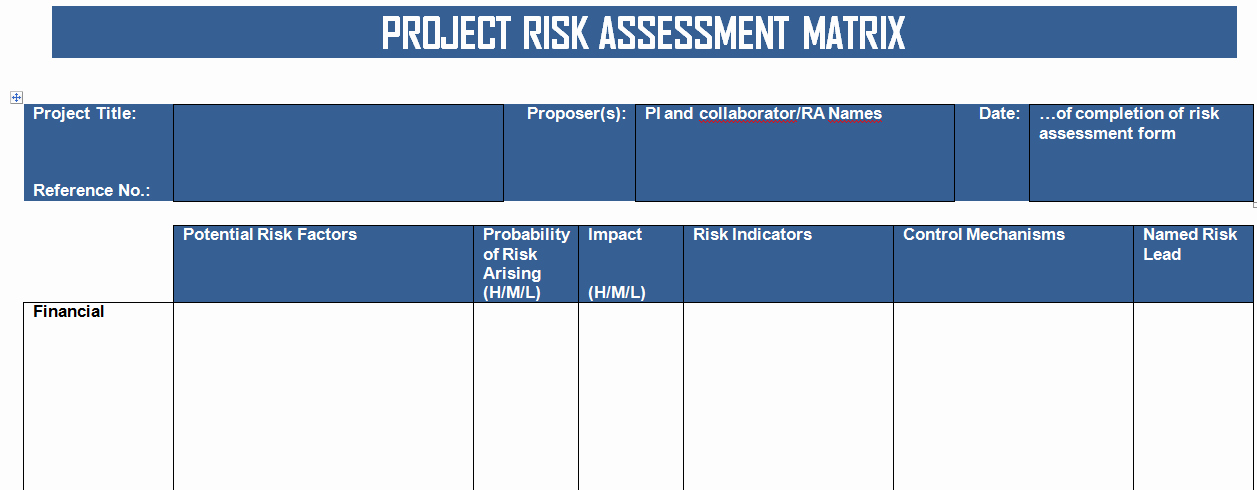 Risk Matrix Template Excel Luxury Get Project Risk Matrix Template In Word format Project