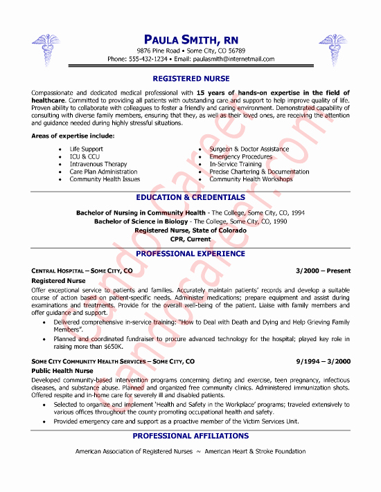 Rn Resume Template Free Best Of Registered Nurse Resume Sample Professional Experience