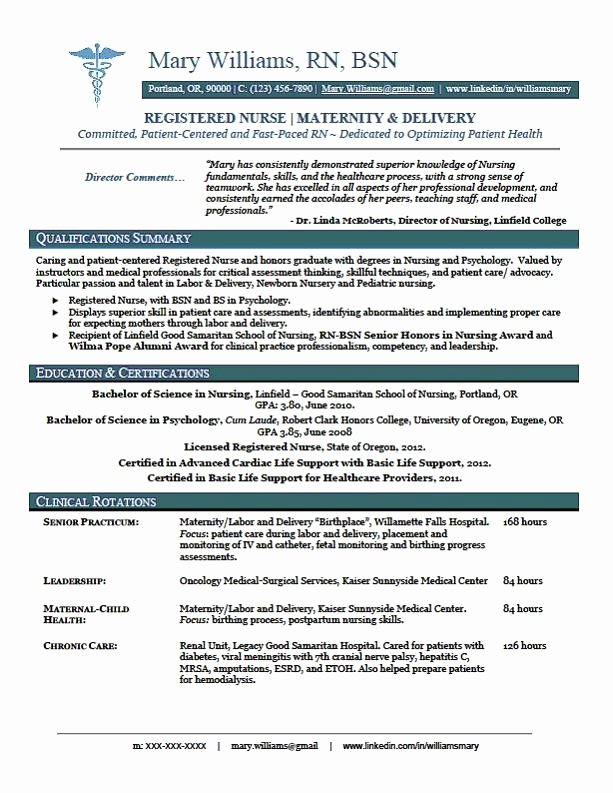 Rn Resume Template Free New Sample New Rn Resume
