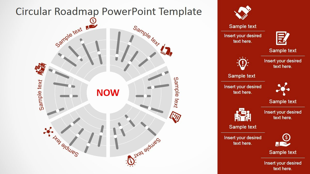 Road Map Powerpoint Template Elegant Circular Roadmap Powerpoint Template Slidemodel