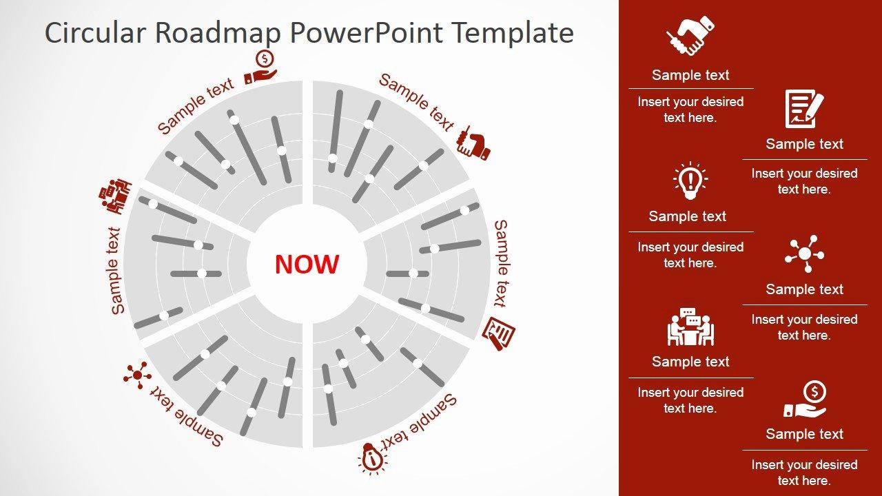 Road Map Powerpoint Template Elegant Circular Roadmap Powerpoint Template Slidemodel