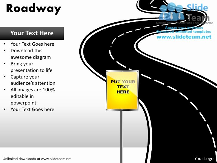 Road Map Powerpoint Template Lovely Download Editable Road Map Power Point Slides and Road Map