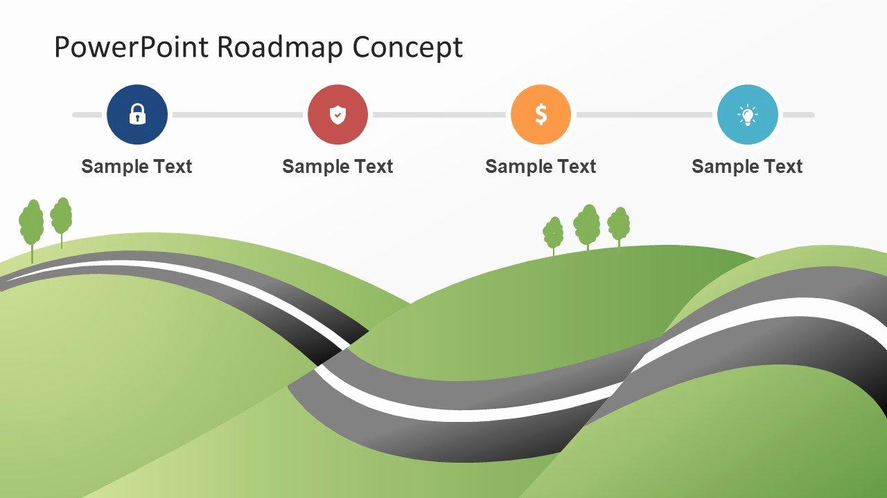 Road Map Powerpoint Template Lovely Roadmap Concept Map Powerpoint theme Slidemodel