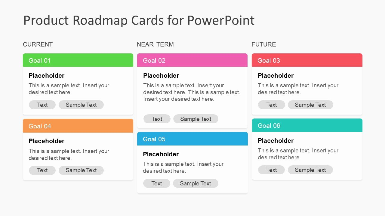 Road Map Powerpoint Template Luxury Product Roadmap Cards Powerpoint Template Slidemodel