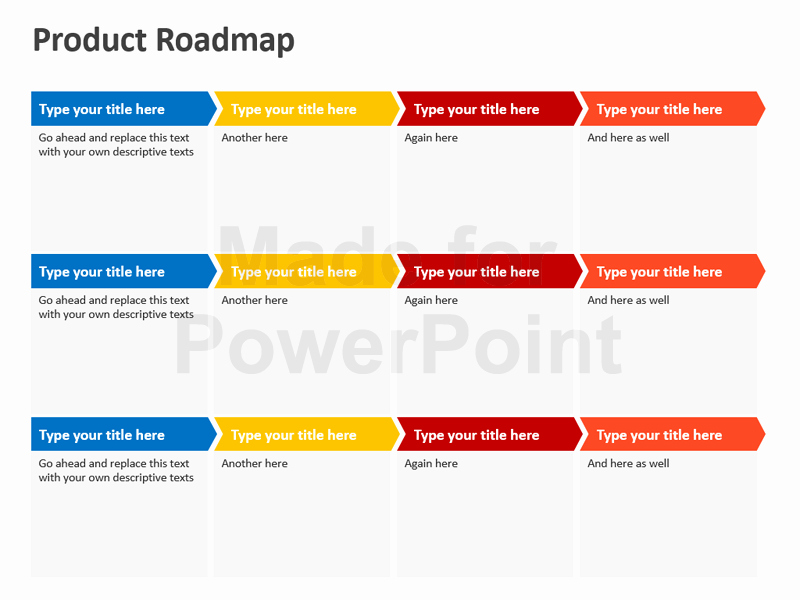 Road Map Powerpoint Template Luxury Product Roadmap Powerpoint Template Editable Ppt