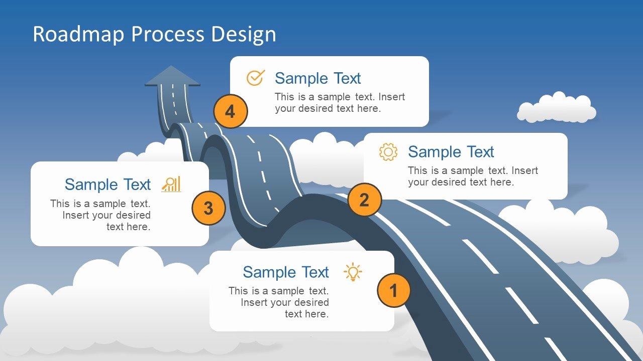 Road Map Powerpoint Template Luxury Roadmap Into Sky Metaphor Powerpoint Template Slidemodel
