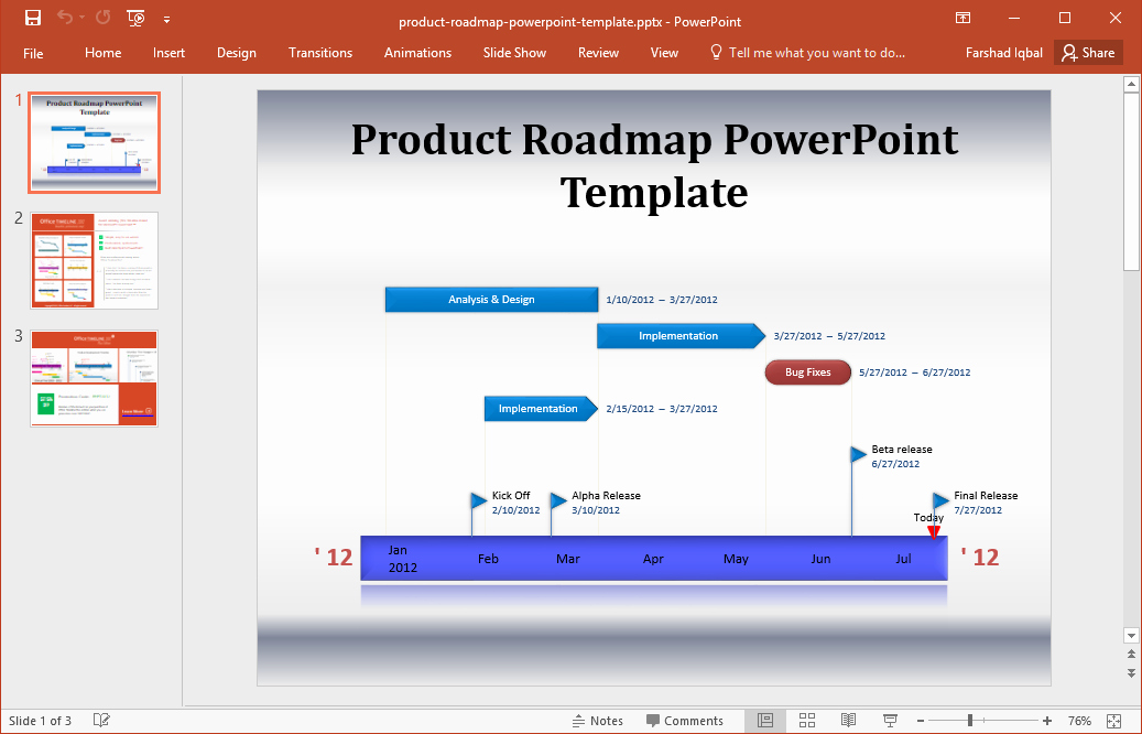 Road Map Template Powerpoint Awesome Best Roadmap Templates for Powerpoint
