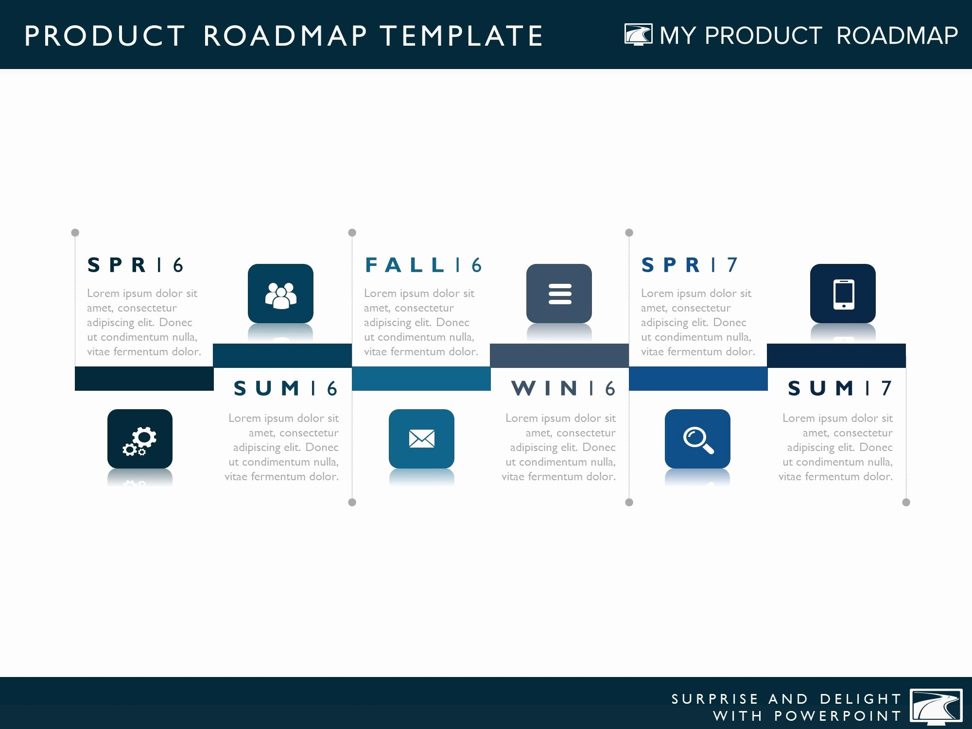 Road Map Template Powerpoint Elegant Six Phase Product Timeline Roadmapping Powerpoint Diagram