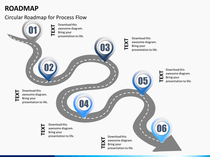Road Map Template Powerpoint Lovely Roadmap Powerpoint Template