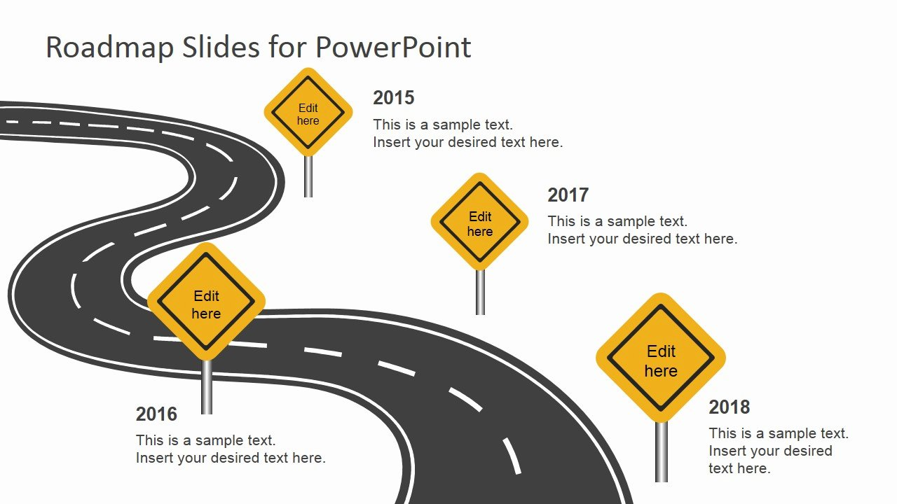Road Map Template Ppt Awesome Free Roadmap Slides for Powerpoint Slidemodel
