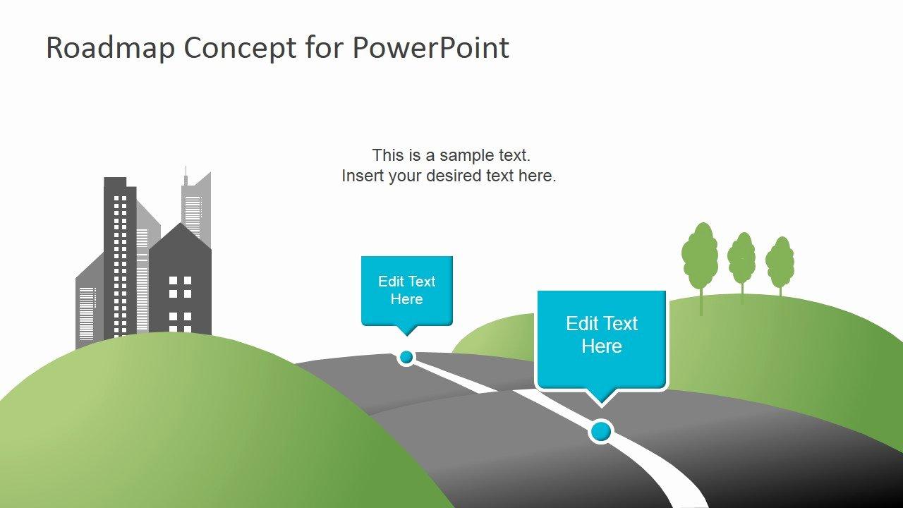 Road Map Template Ppt Elegant Creative Roadmap Concept Powerpoint Template Slidemodel