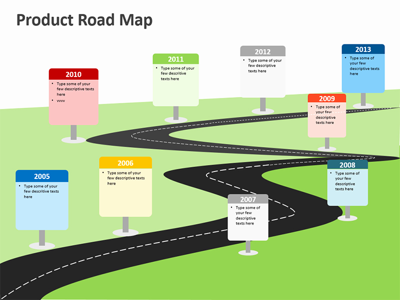 Road Map Template Ppt Elegant Product Roadmap Editable Powerpoint Template