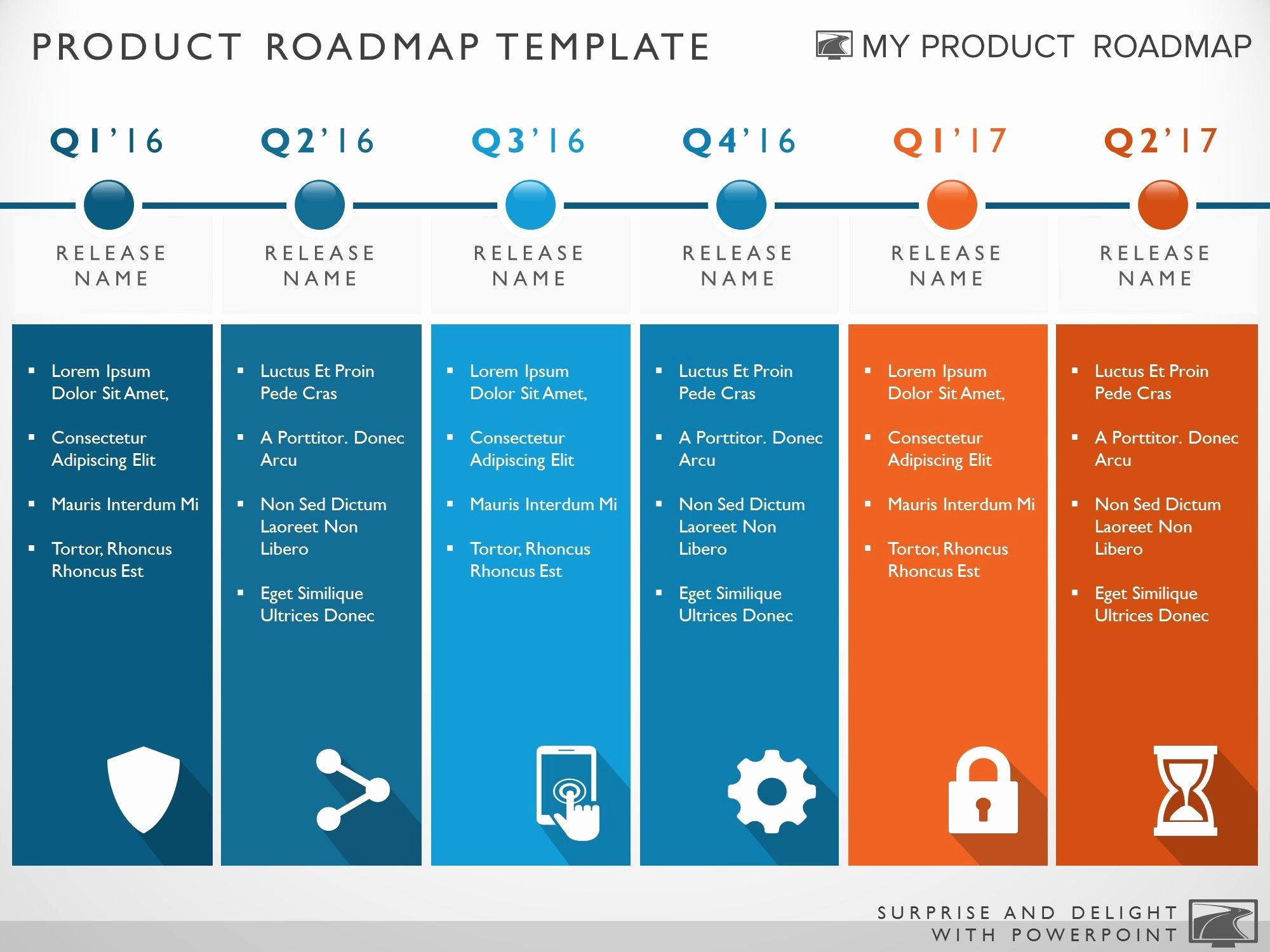 Road Map Template Ppt Unique Six Phase Development Planning Timeline Roadmapping