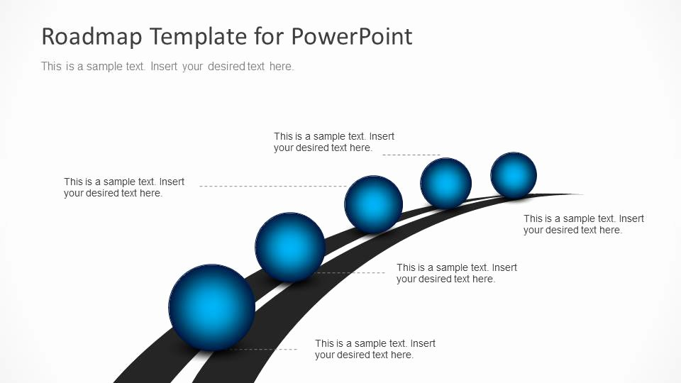 Roadmap Powerpoint Template Free Elegant Roadmap Timeline with Spheres for Powerpoint Slidemodel