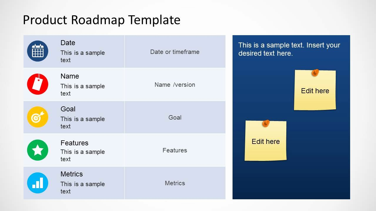Roadmap Powerpoint Template Free Inspirational Product Roadmap Template for Powerpoint Slidemodel