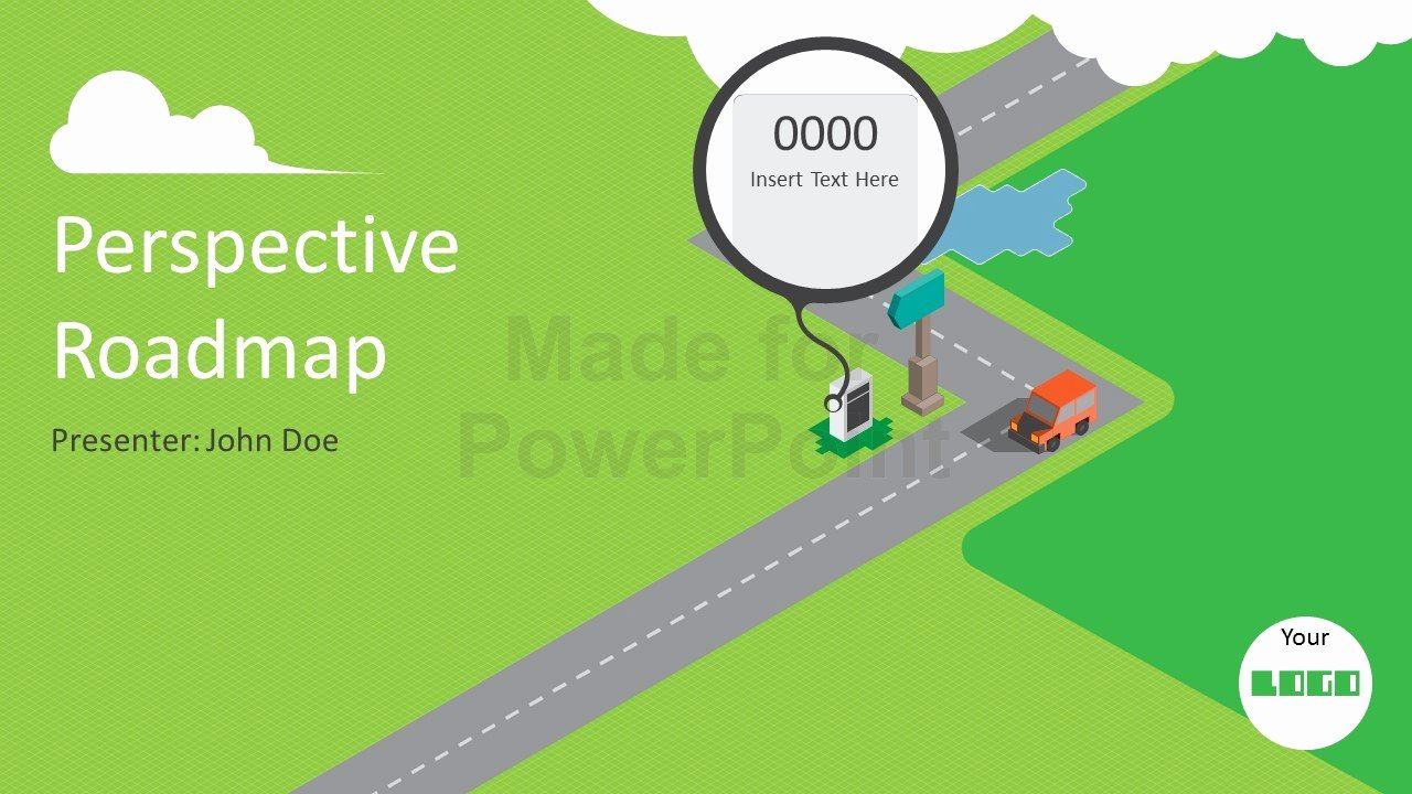 Roadmap Powerpoint Template Free Luxury Animated Perspective Roadmap Powerpoint Presentation Template