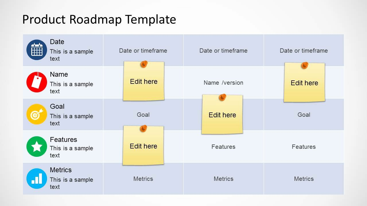 Roadmap Ppt Template Free Elegant Product Roadmap Template for Powerpoint Slidemodel