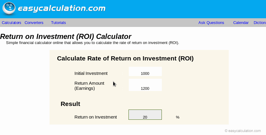 Roi Calculator Excel Template Fresh Excel Roi Calculator Calculator Spreadsheet Free Download