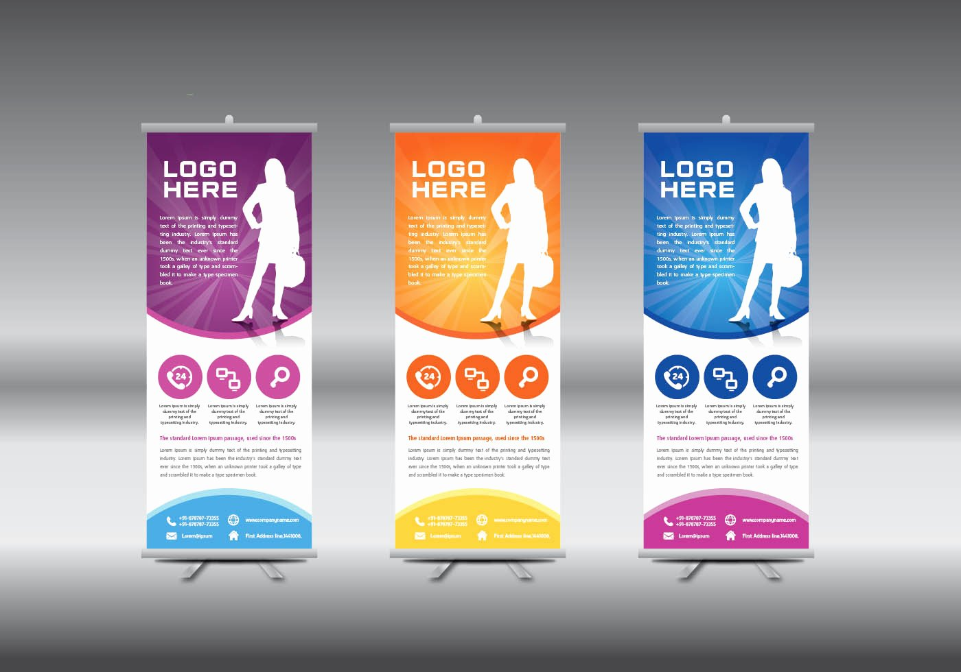 Roll Up Banner Template Beautiful Roll Up Banner Template Vector Illustration Download