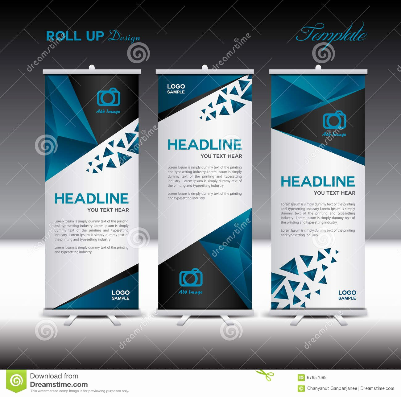 Roll Up Banner Template Best Of Blue Roll Up Banner Template Vector Illustration Polygon